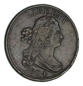 1804 DRAPED BUST HALF CENT   CIRCULATED  1189