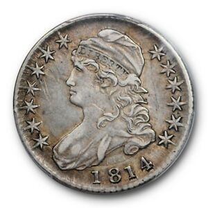 1814 50C CAPPED BUST HALF DOLLAR PCGS XF 40 EXTRA FINE EXCEPTIONAL COIN