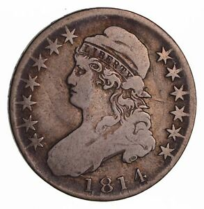 1814 CAPPED BUST HALF DOLLAR   CIRCULATED  1494