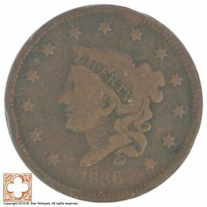 1836 MATRON HEAD LARGE CENT  XB30