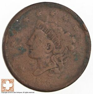 1836 MATRON HEAD LARGE CENT  3603
