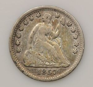 1857 P SEATED LIBERTY SILVER HALF DIME  G83