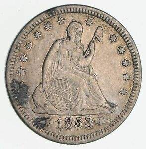 1853 SEATED LIBERTY QUARTER  NEAR UNCIRCULATED  2248