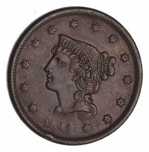 1841 BRAIDED HAIR LARGE CENT   CIRCULATED  1473