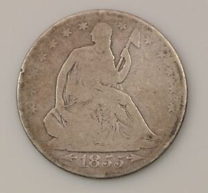 1855 O SEATED LIBERTY SILVER HALF DOLLAR  G03