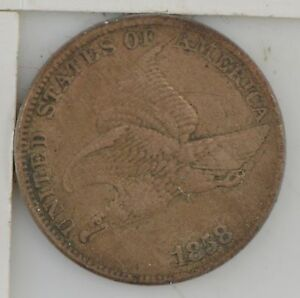 1858 FLYING EAGLE ONE CENT  525