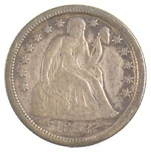 1853 O SEATED LIBERTY DIME ARROWS AT DATE  J37