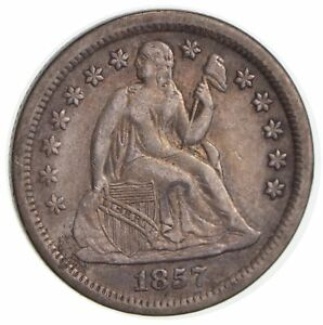 1857 SEATED LIBERTY SILVER DIME  1223