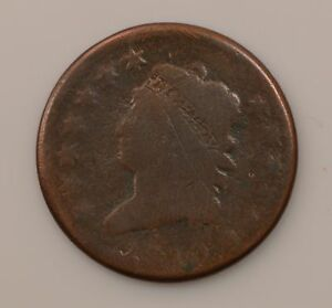 1810 CLASSIC HEAD  NORMAL DATE  LARGE CENT  Q80