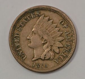 1860 INDIAN HEAD ONE CENT COPPER NICKEL  G66