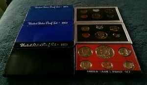 Click now to see the BUY IT NOW Price! US PROOF SET LOT  13  1971 1972 1973 1974 1975 1976 1977 1978 1979 1980 1983