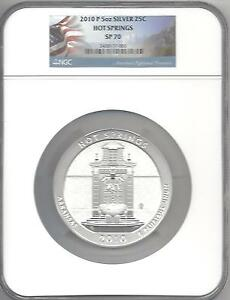 Click now to see the BUY IT NOW Price! 2010 P HOT SPRINGS 5 OZ SILVER 25C SP 70 NGC
