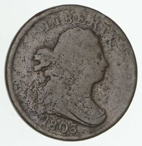 1803 DRAPED BUST HALF CENT   CIRCULATED  4184