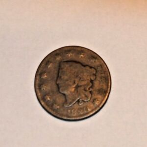 1820 1C LARGE CENT CORONET LIBERTY