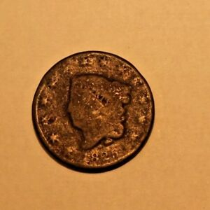 1825 1C LARGE CENT CORONET LIBERTY