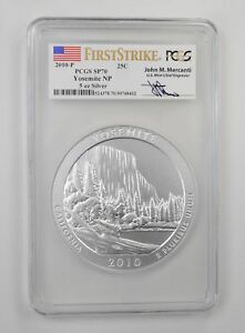 Click now to see the BUY IT NOW Price! SP70 2010 P YOSEMITE 5 OZ SILVER QUARTER   FIRST STRIKE   PCGS GRADED  3814