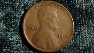 1911 S LINCOLN WHEAT CENT STRONG VF  COIN