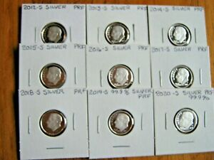 Click now to see the BUY IT NOW Price! 2012 S  2013 S  2014 S   2018 S 2019 S 2020 S SILVER ROOSEVELT  PROOF DIMES