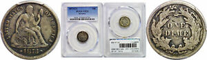 Click now to see the BUY IT NOW Price! 1873 CC SEATED LIBERTY DIME PCGS VF 25 ARROWS