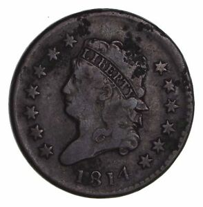 1814 CLASSIC HEAD LARGE CENT   CIRCULATED  1465