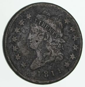 1811 CLASSIC HEAD LARGE CENT   CIRCULATED  4158