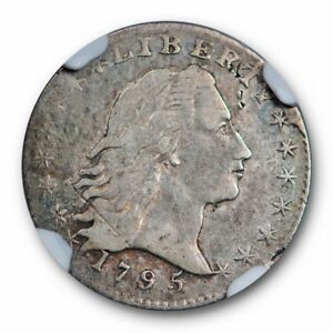 1795 FLOWING HAIR HALF DIME H10C NGC VF 25 FINE EARLY US TYPE COIN
