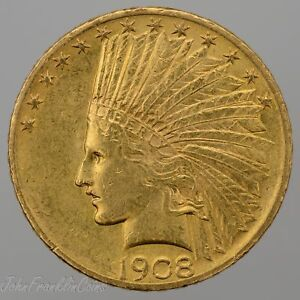 1908 $10 INDIAN HEAD GOLD EAGLE