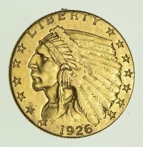 1926 $2.50 INDIAN HEAD GOLD QUARTER EAGLE    PIN JEWELRY   CIRCULATED  0030
