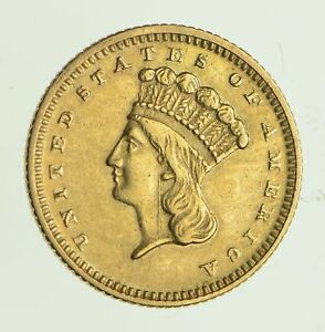 1873 INDIAN PRINCESS HEAD GOLD $1.00 DOLLAR  9746