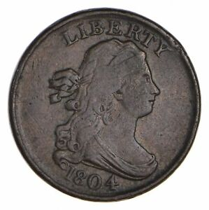 1804 DRAPED BUST HALF CENT   CIRCULATED  0656