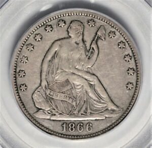 Click now to see the BUY IT NOW Price! 1866 S NO MOTTO SEATED LIBERTY HALF DOLLAR PCGS XF 40  KEY VARIETY  AOG0618