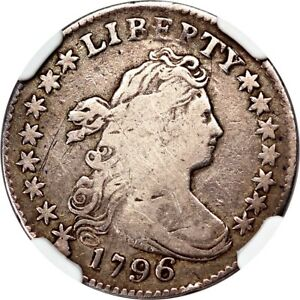 1796 DRAPED BUST DIME CERTIFIED BY NGC AS FINE 12
