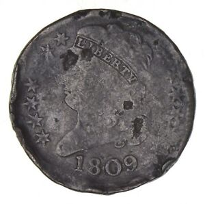 1809 CLASSIC HEAD HALF CENT   CIRCULATED  8126