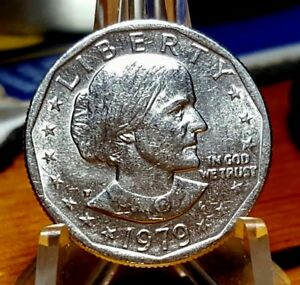 1979 P SUSAN B ANTHONY DOLLAR   WIDE RIM   NEAR DATE   MINT LUSTER