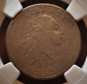 1793 1C  CHAIN CENT LARGE CENT S 2 R4  ST OF ALL CHAINS NGC  VF20