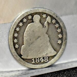 1848 O LIBERTY SEATED HALF DIME   GOOD DETAILS  15279