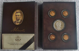 LINCOLN COIN AND CHRONICLES SET UNITED STATES MINT   LN6