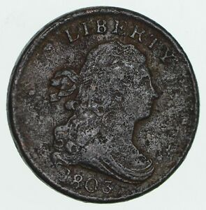 1803 DRAPED BUST HALF CENT   CIRCULATED  3588