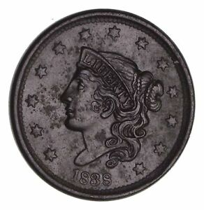 1838 YOUNG HEAD LARGE CENT   CIRCULATED  1472