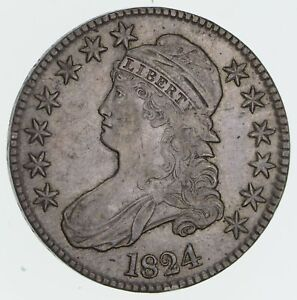 1824 CAPPED BUST HALF DOLLAR   CIRCULATED  3280