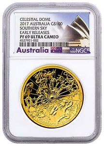 Click now to see the BUY IT NOW Price! 2017 AUSTRALIA CELESTIAL DOME SOUTHERN SKY 1OZ GOLD $100 NGC PF69 UC ER SKU46190