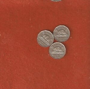 SEMI  3 1948 FIVE CENT COINS  FINE NICE COLLECTABLE COINS L440