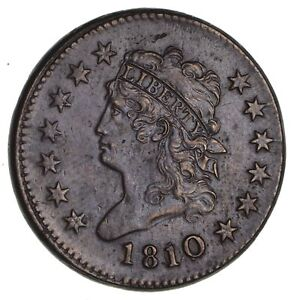 1810 CLASSIC HEAD LARGE CENT  CIRCULATED  1944