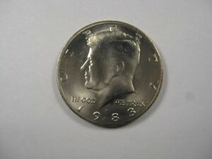 1983 P MS/UNC KENNEDY  HALF DOLLAR NICE COIN TOUGH DATE IN UNCIRCULATED MS
