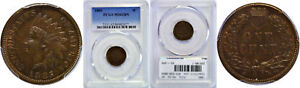 1885 INDIAN HEAD CENT PCGS MS 62 BN
