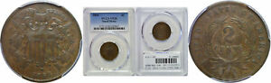1864 SMALL MOTTO TWO CENT PIECE PCGS VF 20