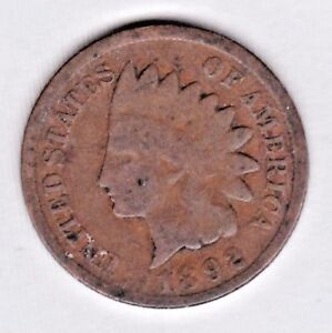 1892 INDIAN HEAD CENT IN GOOD CONDITION : STK 92 3