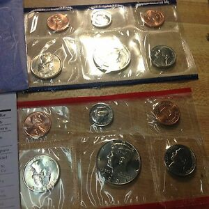 1991 P AND D US MINT SET UNCIRCULATED 12 COIN SET BU COINS IN ORIGINAL ENVELOPE