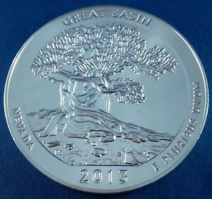 2013 GREAT BASIN AMERICA THE BEAUTIFUL ATB 5 OUNCE .999 SILVER COIN