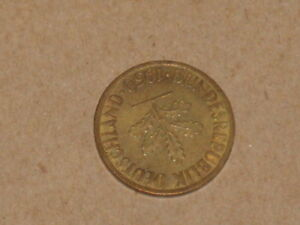 1924  CANADA FIVE CENTS DECENT COIN